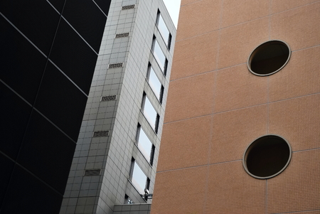 detail of contemporary architecture, Tokyo, Japan