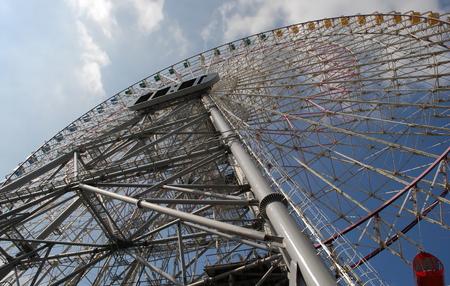 Ferris wheel in the port of Yokohama - Japan Фото со стока