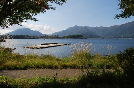 Mountain Lake Kawaguchiko, autumn, Japan, Asia