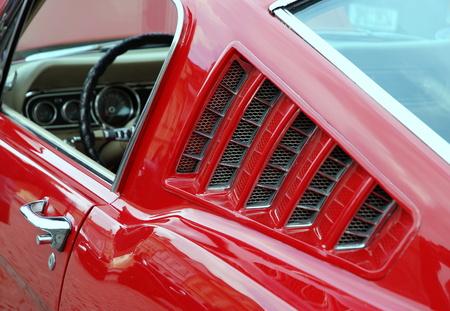 fast cars: detail veteran Car Ford Mustang