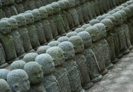 Jizo Statues, Kamakura-Hasedera Temple Фото со стока