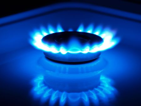 burner: natural gas         Stock Photo