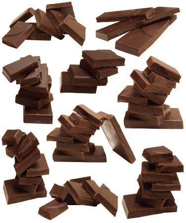Brocken: Schokolade Lizenzfreie Bilder