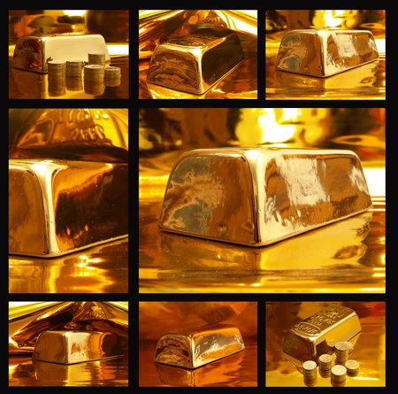 Gold ingot photo