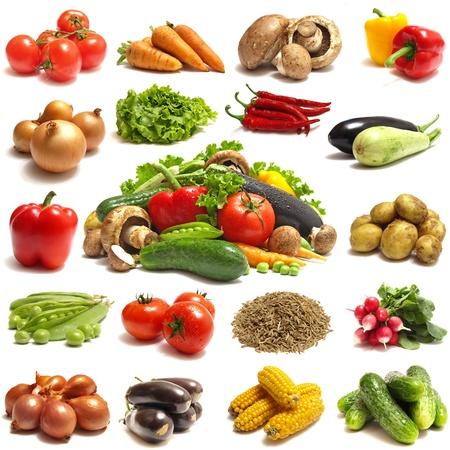 vegetables supermarket: Vegetable Stock Photo