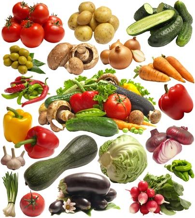 vegetables supermarket: Fresh vegetable Stock Photo