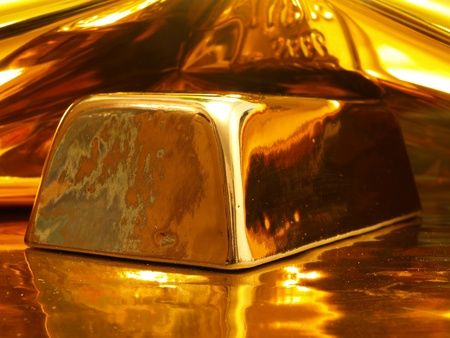 Gold ingot Standard-Bild