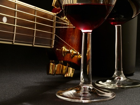 Beautiful music of wine