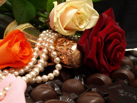 romanticism: Champagne and chocolate is romanticism