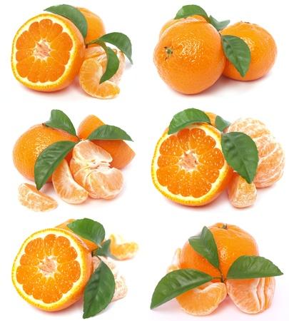 Fresh mandarin Stock Photo