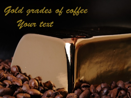 Gold grades of coffee photo