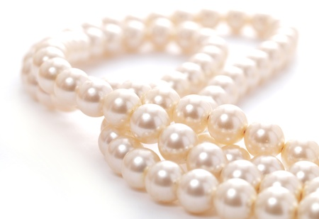 necklace: Pearl necklace   Stock Photo