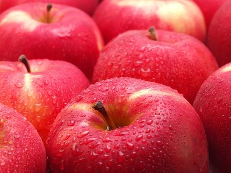 Pomme rouge Banque d'images - 18092859