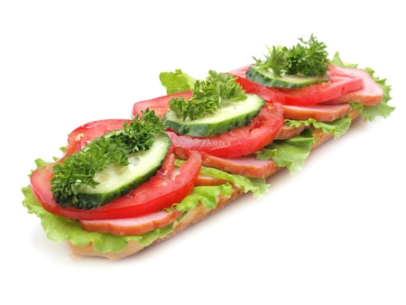 Sandwich isolated on white       photo