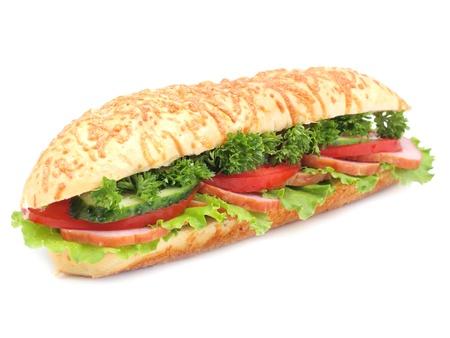 multi grain sandwich: Sandwich isolated on white Stock Photo