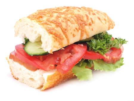 multi grain sandwich: Sandwich isolated on white