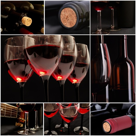 Mysterious wine Stock Photo