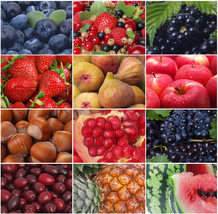 The freshest and useful fruit and berries photo