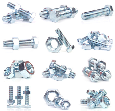Steel bolts Stock Photo