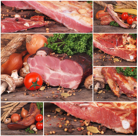 beef meat: Fresh smoked meat