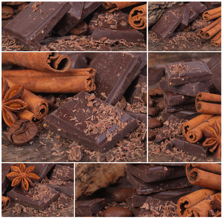 cinnamon swirl: Chocolate collage
