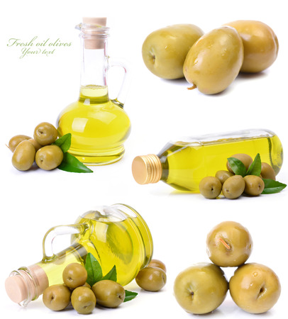Fresh oil olives photo