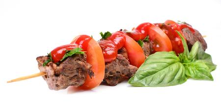shish: Shish kebab from mutton Stock Photo