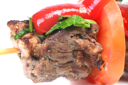 mutton: Shish kebab from mutton Stock Photo