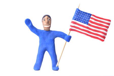 simbols: american flag Stock Photo