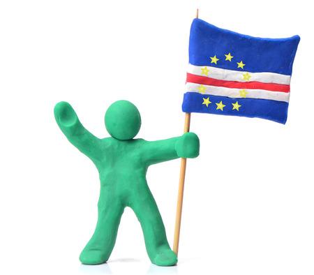 plasticine: Cape Verde Flag plasticine Stock Photo