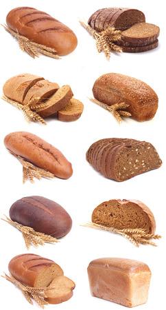 tranches de pain: pain frais Banque d'images