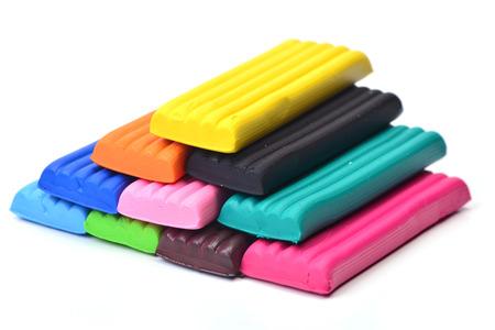 plasticine: Color plasticine Stock Photo