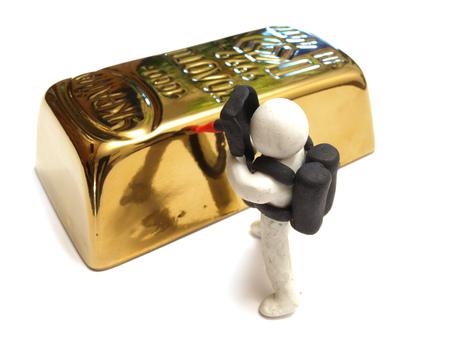 goldbars: Processing of bank metals Stock Photo
