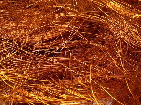 a copper: textura de alambre de cobre