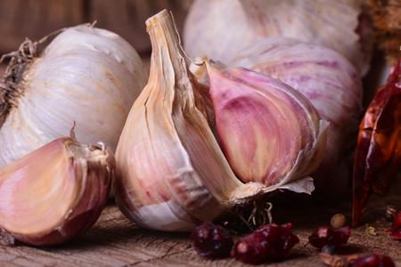 fresh garlic: Fresh garlic Stock Photo