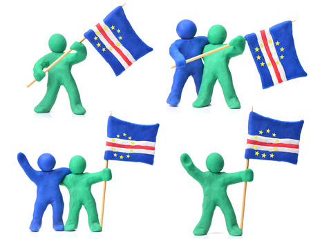 cape verde flag: Cape Verde Flag Stock Photo