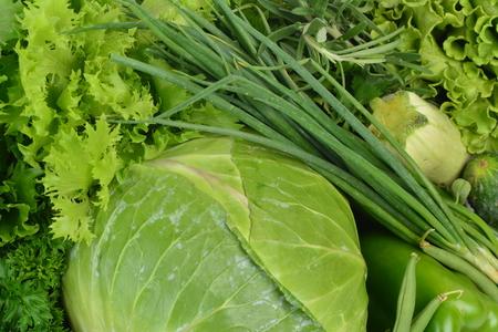 vegetales verdes  Foto de archivo