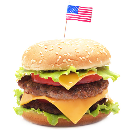 american: American hamburger