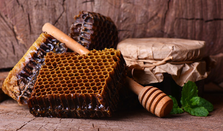 Aroma of the fresh honey presented by the nature Stock Photo