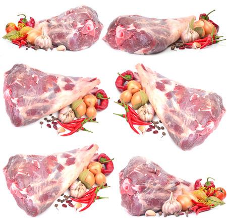 mutton: Fresh mutton leg