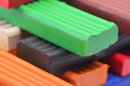 ductile: Color plasticine Stock Photo