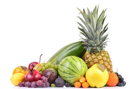 fresh fruit isolate on white