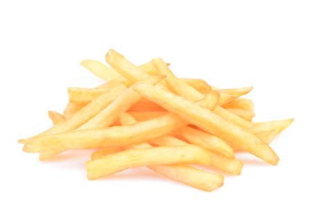 fried potato isolated on white nackground Stock Photo