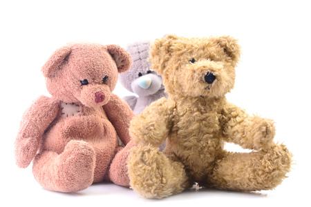 Bear toys sitting on the floor