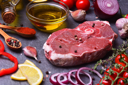 Fresh meat mutton Stock Photo