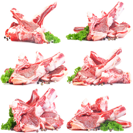 Meat mutton  isolated on white 写真素材