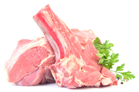 Meat beef on a white background Stock Photo