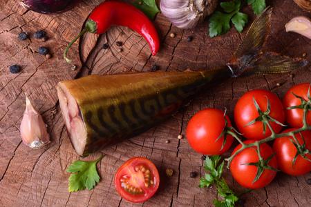 Smoked fish mackerel