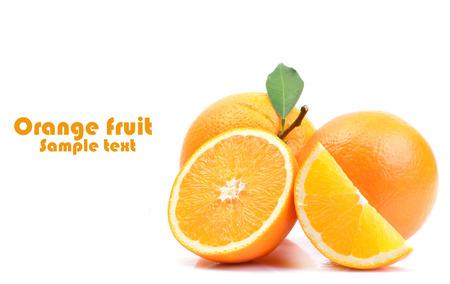 Orange fruit on white background Stok Fotoğraf - 123199774