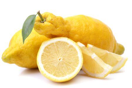 Lemon fruit on white background Stok Fotoğraf